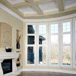 white bow window