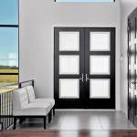 black steel french doors