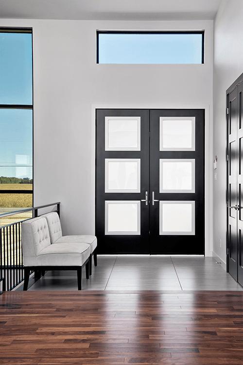 black steel french doors