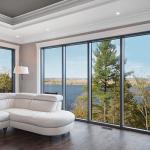 grandes fenêtres fixes vue panoramique