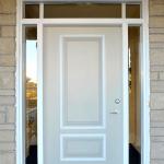 white steel door