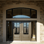 portes françaises avec verre fixe