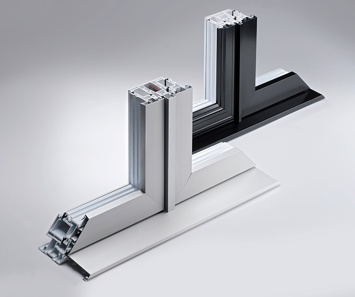 Hybrid windows optima series aluminum and pvc frames for Fenetre pvc aluminium