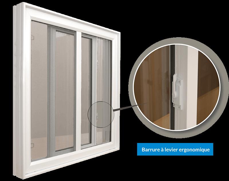 fenêtre avec barrure à levier ergonomique de la série omni