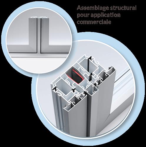 fabrication de fenêtres pour application commerciale