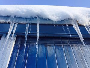 Triple-glazed windows offer superior insulation from winter weather.